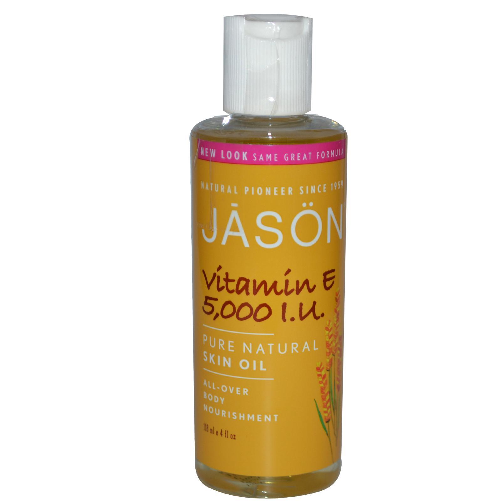 Масло Jason Natural, Vitamin E, 5,000 I.U. Pure Natural Skin Oil (118 ml)