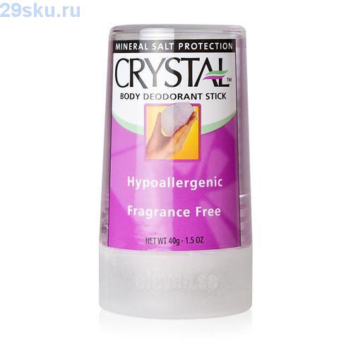 Натуральный дезодорант Кристалл Crystal Body Deodorant Travel Stick 40 g
