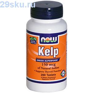 Таблетки Kelp с йодными добавками
