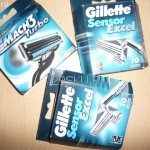Лезвия для бритья Gillette Sensor Excel и Gillette Mach3 Turbo